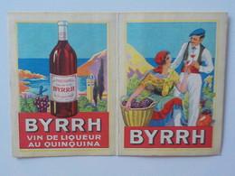 1937 Calendrier Pub Byrrh Vin Au Quiquina Couple Buvant Un Verre De Vin - Petit Format : 1921-40