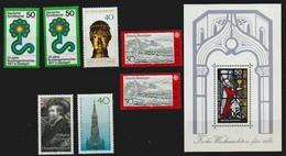 Bund 1977 Lot Mit Michel Nr.n 927 (x2), 933, 935 (x2), 936, 937 Und  Block 15, Alle ** Postfrisch - Ungebraucht
