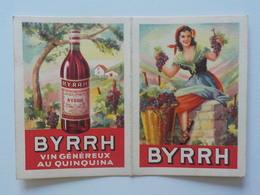 1951 Calendrier Pub Byrrh Vin Au Quinquina Femme Tenant Grappe De Raisins Dans Chaque Main - Calendriers