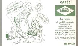 Buvard Cafés COSTA BRASIL La Joie De Vivre. La Bonne Humeur Par Le Bon. Café BRASIL - Café & Thé