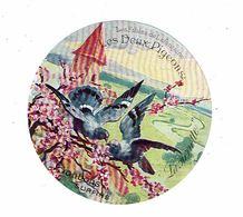 étiquette BONBONS Surfin LA PIERRETTE Fables Les Deux Pigeons - Etiquettes