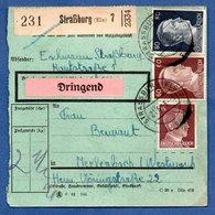 Colis Postal  -  Départ Strasbourg 7  -  21/6/1943 - Allemagne