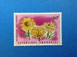 RWANDA REPUBLIQUE RWANDAISE 1966 FLORA FIORI PIANTE 30 C FRANCOBOLLO NUOVO STAMP NEW MNH** - 1962-69: Nuovi