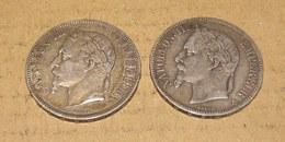 Lot De 2 Pièces De 5 Francs Napoléon III - Frankreich