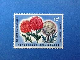 RWANDA REPUBLIQUE RWANDAISE 1966 FLORA FIORI PIANTE 10 C FRANCOBOLLO NUOVO STAMP NEW MNH** - 1962-69: Nuovi