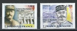 France. Scott #  MNH. General Berthelot. Joint Issue With Romania. 2018 - Joint Issues