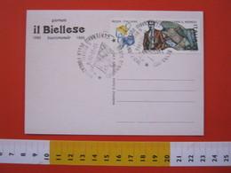 A.06 ITALIA ANNULLO - 1986 BENNA BIELLA VERCELLI 100 ANNI GIORNALE IL BIELLESE SCRITTURA IDIOMA GIORNALISMO - Altri
