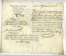 MARHEM Freres Et DECONINCK,à BERGUES, Envoi De Tabac à Mr BRIANSIAUX Lille Pour LEGRAND Père Et Fils à PARIS 1805 - 1800 – 1899