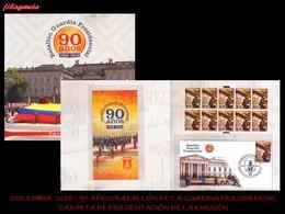 AMERICA. COLOMBIA. CARPETA DE PRESENTACIÓN. 2018 90 AÑOS DEL BATALLÓN DE LA GUARDIA PRESIDENCIAL - Colombia