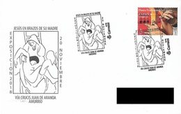 "SPAIN. POSTMARK VIA CRUCIS JUAN DE ARANOA. ""JESUS IN THE ARMS OF HIS MOTHER"". AMURRIO 2018 - Marcofilia - EMA ( Maquina De Huellas A Franquear)"