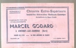 Buvard Chicorée Extra-Supérieure Ets Marcel GODARD à AWOINGT LEZ CAMBRAI (Nord) - Café & Thé