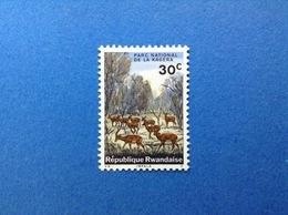 RWANDA REPUBLIQUE RWANDAISE PARCO NAZIONALE KAGERA FAUNA ANIMALI IMPALA 30 C FRANCOBOLLO NUOVO STAMP NEW MNH** - 1962-69: Nuovi