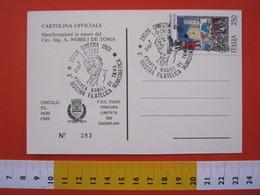 A.06 ITALIA ANNULLO - 1985 OMEGNA NOVARA VERBANIA ANDREA NOBILI DE TOMA INGENIERE CAVALIERE ILLUSTRE CELEBRITA' STORIA - Famous People