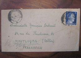 Allemagne 1943 France LAGER Firma Kelluer Censure Enveloppe Cover Guerre Deutsches Reich DR STO Montluçon - Marcofilie (Brieven)