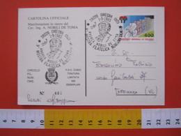 A.06 ITALIA ANNULLO - 1985 OMEGNA NOVARA VERBANIA ANDREA NOBILI DE TOMA INGENIERE CAVALIERE ILLUSTRE CELEBRITA' STORIA - Professioni