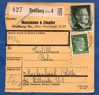 Colis Postal  -  Départ Strasbourg 4  -  15/6/1943 - Allemagne