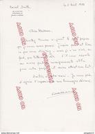 Fixe Lettre Autographe Amiral Daille France Libre FNFL Commandant Porte-avions Clémenceau - Autographs