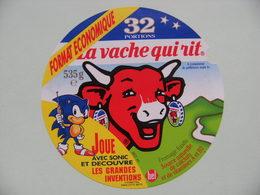 Etiquette Fromage Fondu - Vache Qui Rit - Bel 32 Portions Eco Pub SONIC Et Grandes Inventions   A Voir ! - Fromage