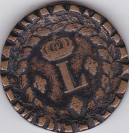 """MONNAIE UN DECIME 1814-BB- """"L"""" COURONNE- Diam. : 3cm - Francia"""