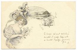 Femme Chapeau Magnifique 1903 - Women