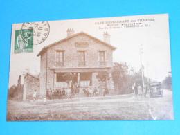 """91 ) Yerres - Café - Restaurant Des Tilleuls """" Maison PRADES """" Rue Des Godeaux  - Année 1937 - EDIT : Caussat - Yerres"""