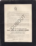 Doodsbrief Comte Jacques De La Boëssière-Thiennes,°1883 †1916Mont-sur Meuse Fils De Marquis, Bourgmestre De Lombise(L61) - Obituary Notices
