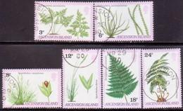 ASCENSION 1980 SG #258-63 Compl. Set Used Ferns And Grasses - Ascension