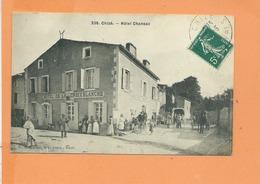 CPA - CHIZE - Hotel Chansac - Hotel De La Croix Blanche - France