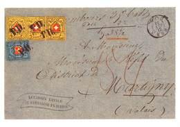 """Der Einzige Bekannte Dreierstreifen Der """"RayonII"""" Mit Kreuzeinfassung Von 1850  (10X15 Cm) - Stamps (pictures)"""