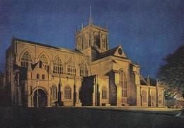 Postcard Sherborne Abbey Dorset Floodlit My Ref  B23360 - England