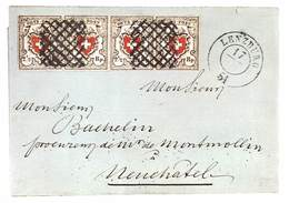 Orts-Post Mit Kreuzeinfassung, Die Erste Eidgenössische Marke  (10X15 Cm) - Stamps (pictures)