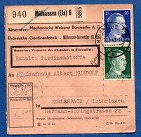 Colis Postal  -  Départ Mülhausen 6 -  1943 - Deutschland