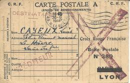 Croix Rouge Carte Postale A Envoi De Renseignemeent Aux Familles >> Le Havre - Marcophilie (Lettres)