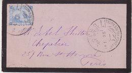 """EGYPTE : LETTRE . OBL . """" CHESITECH PALACE HOTEL . """" . TB . 1895 . - Égypte"""