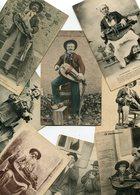 LOT De 8 Cartes De Musique Musiciens Façon Folklore Vielle Biniou Bombarde Ménétrier Personnages Costumes - Cartes Postales