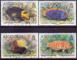 ASCENSION 1980 SG #270-73 Compl.set Used Fishes - Ascension