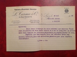 Lyon Bijouterie Joaillerie TERME  1933 - France