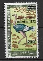 "MAURITANIA 1973 BIRDS ""ostriche"" Surcharged - Autruches"