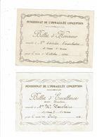 BILLET D HONNEUR Billet D'honneur Pensionnat De L'Immaculée Conception - Thérèse Vaxelaire 1932 1933 - Diplômes & Bulletins Scolaires