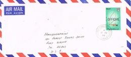 31259. Carta Aerea OFFICIAL, TUNAFUTI (Tuvalu) 1988 To USA - Tuvalu