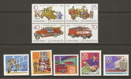 Allemagne DDR 1977/87 - Pompiers  - 2 Séries Complètes MNH - 1946/50 Et 2722/5 En Bloc De 4 - Lots & Kiloware (max. 999 Stück)
