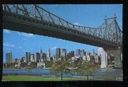 CPSM Etats Unis NEW YORK Midtown Manhattan & Queensborough Bridge - Ponts & Tunnels