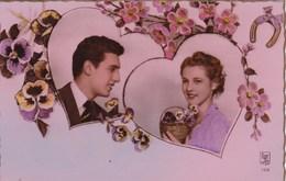 Couple In Love, Valentine, 2 Hearts (pk54350) - Saint-Valentin