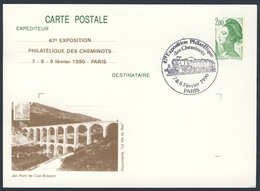 France Rep. Française 1990 Card Karte Carte - Joli Pont De Cize-Bolozon / Bridge / Brücke - Trains