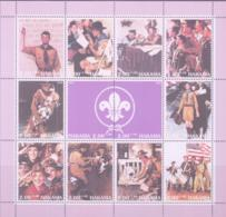 SCOUTS -  HAKASIA   - 2000 - SCOUTING SEETLET OF  10 + LABEL MNH - Scouting