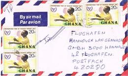 31260. Carta Aerea SEKONDI (Ghana) 1981. Stamp Disabled Persons - Ghana (1957-...)