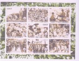 SCOUTS -  CONGO - 2002 - SCOUTS SHEETLET OF  9 MNH - Scouting