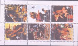 SCOUTS -  CONGO - 1999 - SCOUTS  SHEETLET OF 6 MINT NEVER HINGED - Scouting
