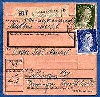 Colis Postal  -  Départ Meisenthal  --  25/2/1943 - Allemagne