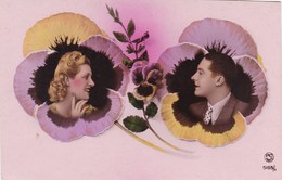 Couple In Love, 2 Portraits In Flowers, PC PAris (pk54352) - Couples